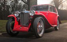 1935 MG PA Airline Coupe Small Sports Cars, British Sports Cars, Small Cars, Retro Cars, Vintage Cars, Antique Cars, Mg Midget, Mg Cars, Motor Car