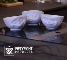 FIFTYEIGHT Products - Cups & Bowls with Facial Expressions