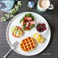 ワッフルで♪ 朝食ワンプレートと、女子会♡|レシピブログ