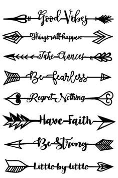 Inspirational Arrows is a Color by Faith Bible Journaling Clear stamp set used for Bible Journaling, Scrapbooking or Crafting projects. Free digital die svg file with purchase. Phrase Tattoos, Body Art Tattoos, Small Tattoos, Small Arrow Tattoos, Gun Tattoos, White Tattoos, Ankle Tattoos, Tattoo Small, Calligraphy Quotes Doodles