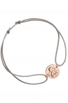 iris y armband textilschnur raffael engel rosegold grau - RAFFAEL Armband Roségold Textil Iris, Bracelet Designs, Rose Gold Plates, Pendant Necklace, Sterling Silver, Bracelets, Jewelry, Products, Silver Roses