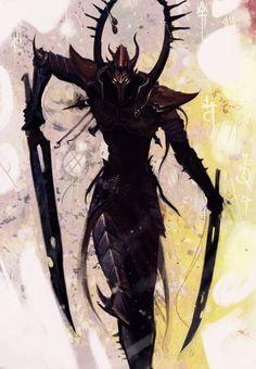 Description: Dark Eldar: Incubi - Slaanesh Hunter, Painted by Beckjann Source: http://ift.tt/1O4Wgb3 on Painted 40k Date: September 11, 2015 at 07:44AM