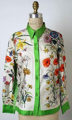 Blouse, Gucci, 1960s, Italian, silk