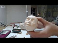 Роспись головы куклы из пластика. Автор Olga Lairy Busygina - YouTube