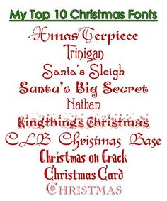 my top 10 favorite christmas fonts