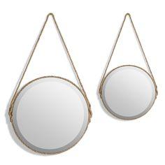"""Spiegel """"Lien"""" AM.PM. : Preis & Lieferung. Spiegel """"Lien"""". Der Spiegel """"Soleil"""" bringt die Sonne (und ihre Lichtreflexe) in die Wohnung. Beschreibung :Rund! Dieser dekorative Spiegel sorgt für tolle Lichteffekte.Material:- Umrandung Sisal (camel). Haken zut befestigung.- Rückseite MDFMasse :Grösse 1 : Ø35 x H. 64,5 cm, Gewicht: 2.6 kgGrösse 2 : Ø50 x H. 85,5 cm, Gewicht: 5.5 kg"""