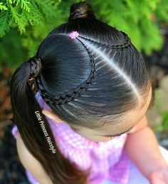 Baby Girl Hairstyles, Easy Hairstyles For Long Hair, Braids For Short Hair, Braided Hairstyles, Short Hair Styles, Cornrow Braid Styles, Girl Hair Dos, Quinceanera Hairstyles, Toddler Hair