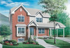 European Style House Plans - 3540 Square Foot Home , 2 Story, 6 Bedroom and 3 Bath, 1 Garage Stalls by Monster House Plans - Plan 5-520