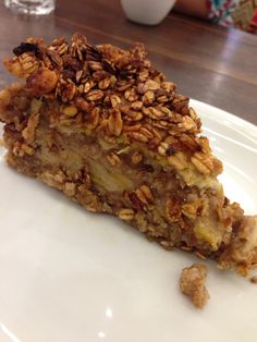 torta de banana com granola - café cultura