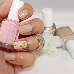 Roses Nails. Used @essie Muchi Muchi, Cocktails and Coconuts and Good as Gold.