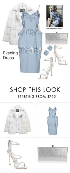 """""""Evening Dress"""" by lolly-p ❤ liked on Polyvore featuring Lilly e Violetta, Ermanno Scervino, Giuseppe Zanotti and Jimmy Choo"""