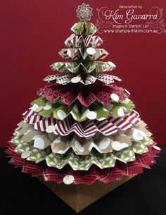 Stampin' Up! Rosette Christmas Tree – Stamp With Kim – Stampin' Up! Australia