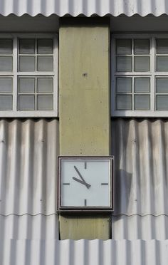 hans chr. hansen, architect, bellahøj koblingsstation, copenhagen, 1961-68. detail: clock | Flickr - Photo Sharing!
