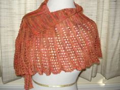 Scarf Shawl Dragon Scales Lace by joandben on Etsy, $47.00