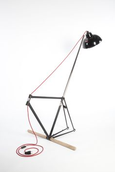 decoration design lampe vélo