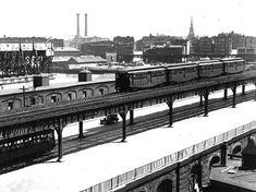 Boston El on Charlestown Bridge, Boston, 1930