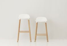 Simon Legald - Bar stool Polyprop 'cups' turned wooden legs
