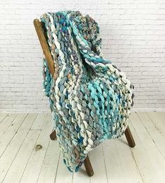 Blue Rapids Chunky Knit Quilt