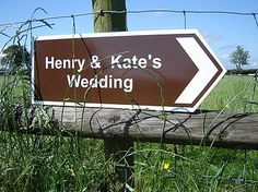 Personalised Directional Sign