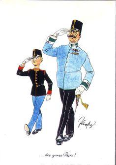 Austria, Austro Hungarian, Military Uniforms, Caricature, Empire, Satin, History, Belle Epoque, Army