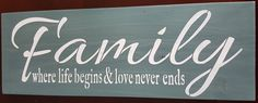 Family by akawoodsigns on Etsy Rustic Wood Signs, Im Not Perfect, How To Remove, Hand Painted, Etsy Shop, Lettering, Messages, I'm Not Perfect, Drawing Letters