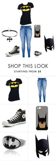 """Batman"" by lavinia-muniz on Polyvore featuring City Chic, Converse, Casetify, women's clothing, women, female, woman, misses and juniors"