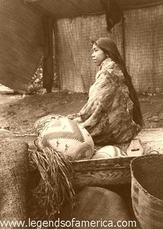 Skokomish Indian chiefs daughter, 1913 by Legends of America, via Flickr