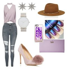 """Untitled #611"" by amilyalavonne ❤ liked on Polyvore featuring Boohoo, Topshop, Pour La Victoire, Janessa Leone, Bee Goddess, Kate Spade and Casetify"