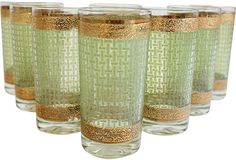 Midcentury Highball Glasses, Set of 8 - I swear my parents had a set similar to this when I was a kid...does that mean I'm vintage too?