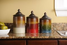 Colorful Canisters #kirklands #creativekitchen