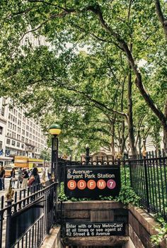 Bryant Park Subway Entrance, NY, NY