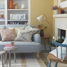 Casinha colorida: Tendência 2016: salas de estar vintage e coloridas