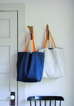 Molly's Sketchbook: The Forty MinuteTote - Knitting Crochet Sewing Crafts Patterns and Ideas! - the purl bee