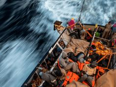"""04-17-2017   An """"unprecedented"""" number of people tried to cross the Mediterranean over the Easter weekend this year, a migrant charity has said."""