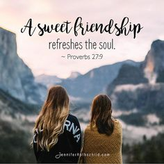Friendships are a sweet gift from the Lord, aren't they? They give us a different perspective on a problem, they laugh with us, they pray for us. Let's honor those friendships tonight... in the comments below, tag a friend who refreshes your soul.
