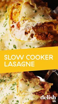 Slow Cooker Lasagna, Slow Cooker Pasta, Healthy Slow Cooker, Best Slow Cooker, Slow Cooker Beef, Slow Cooker Recipe Videos, Tasty Slow Cooker Recipes, Crockpot Recipes, Cooking Recipes