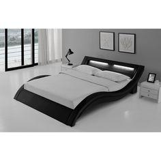 Cadre de lit en simili cuir NOIR et LED. Pas mal