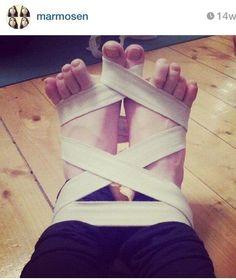 Dandasana feet