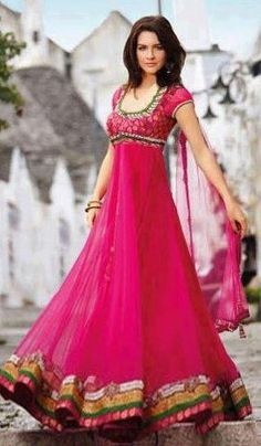 Very Nice pink color Frock #Fashion