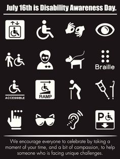 July 16th is National Disability Awareness Month