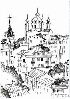 Катерина Ципенюк. Киев. Скетч-открытка