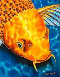 Jean-Baptiste Silk Painting of koi fish Watercolor Fish, Watercolor Animals, Fabric Painting, Artist Painting, Koi Art, Batik Art, Decoupage, Jean Baptiste, Silk Art