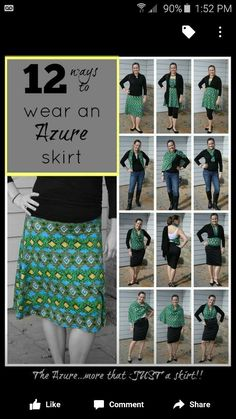 Ways to wear Lularoe Azure skirt