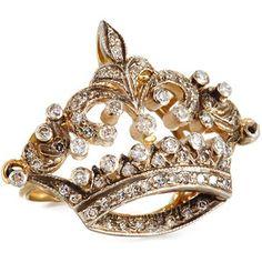 Turner & Tatler Diamond Coronet Ring in 14K Gold kg7RTqfeI