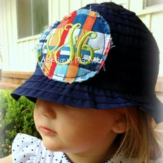 Mini Raggy Circle Patch and Hat Tutorial