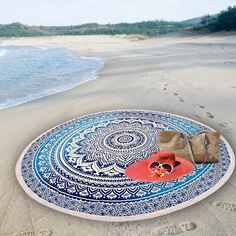 My shop: Indian Round Mandala Tapestry Wall Hanging Beach Throw Blue Star Floral Yoga Mat Boho Decor Round Yoga Mat 56 Mandala Throw, Mandala Tapestry, Mandala Art, Meditation Mat, Blue Throws, Beach Blanket, Watercolor Pattern, Tapestry Wall Hanging, Cool Walls