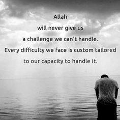 Allah burdens not a person beyond his scope... (Al-Baqarah 2:286)