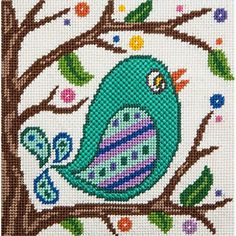 Canoodles-- Songbird-- Needlepoint Kit Alice Peterson