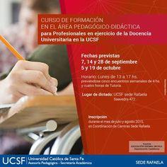Licenciatura en Obstetricia (sede Rafaela- Santa Fe): Curso de Formación para docentes en la UCSF Sede R...