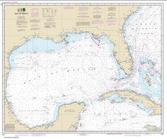 Buy map: Gulf of Mexico Nautical Chart (411) by NOAA – YellowMaps Map Store